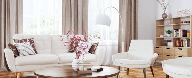 Short term rental airbnb living room